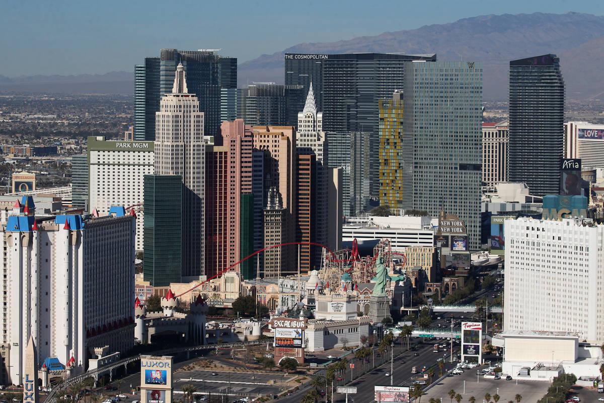 Las Vegas Strip casino utseende