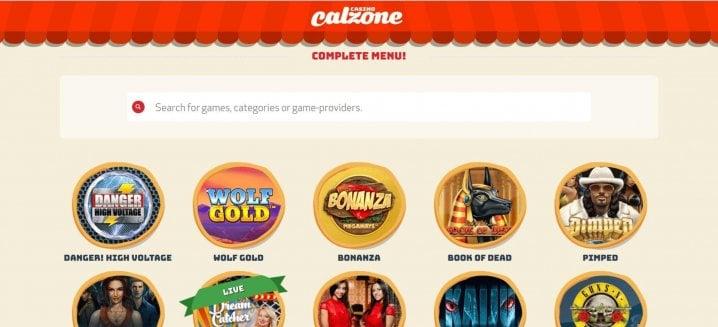 Casino utan verifiering Calzone poäng