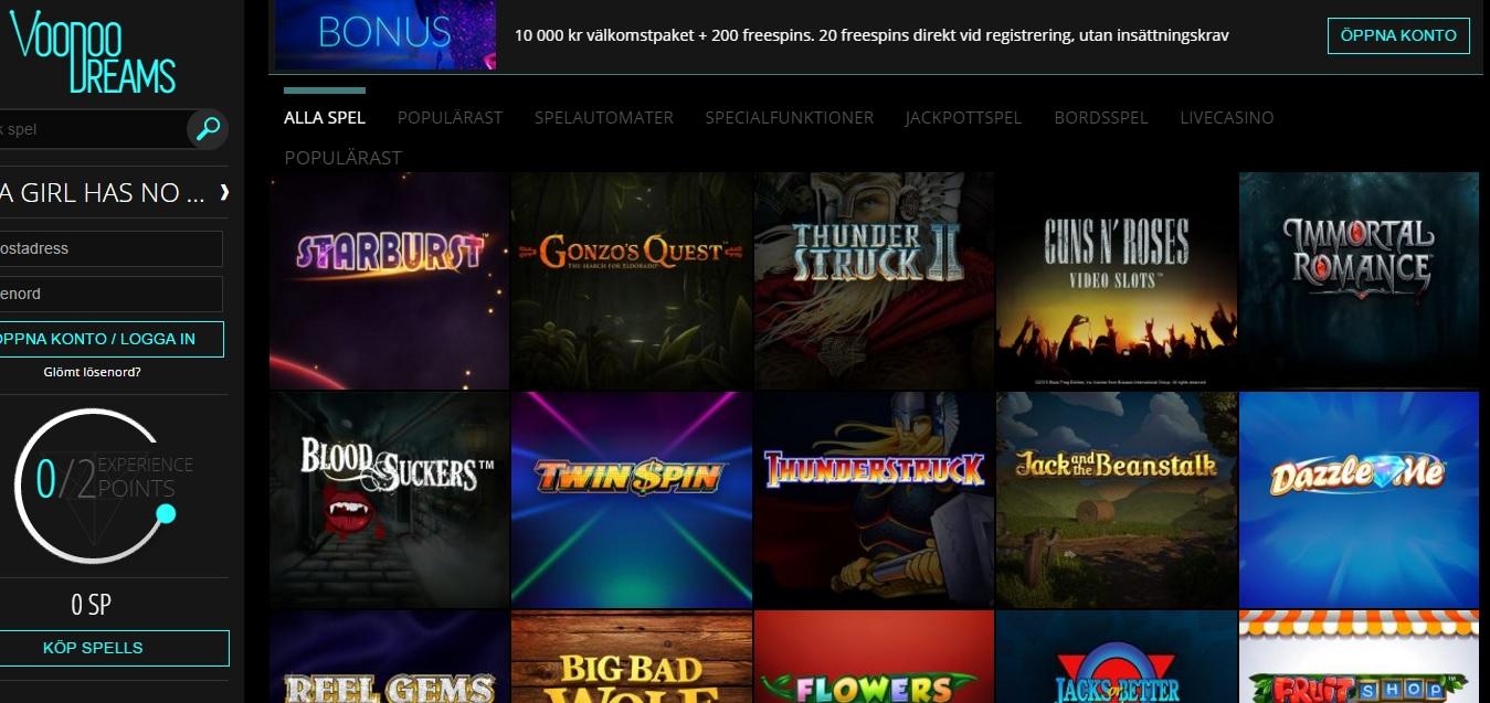 Testar casino spel games