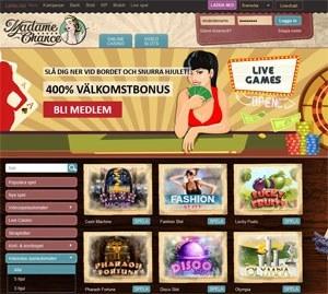 Slumptalsgeneratorn casinospel Madame Chance funkar