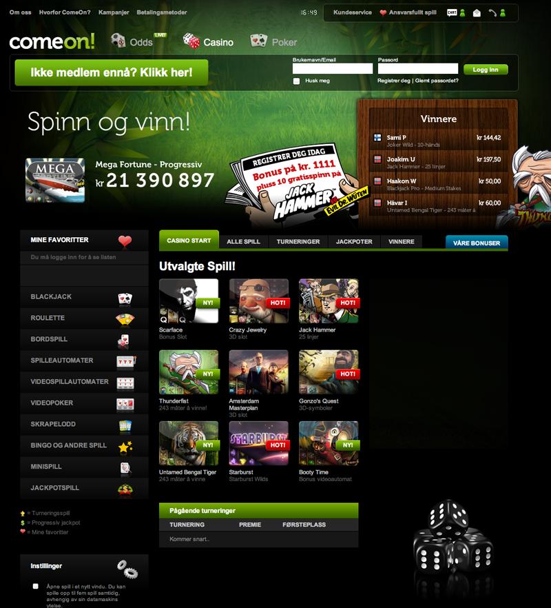 Casino för Svenskar ComeOn booming