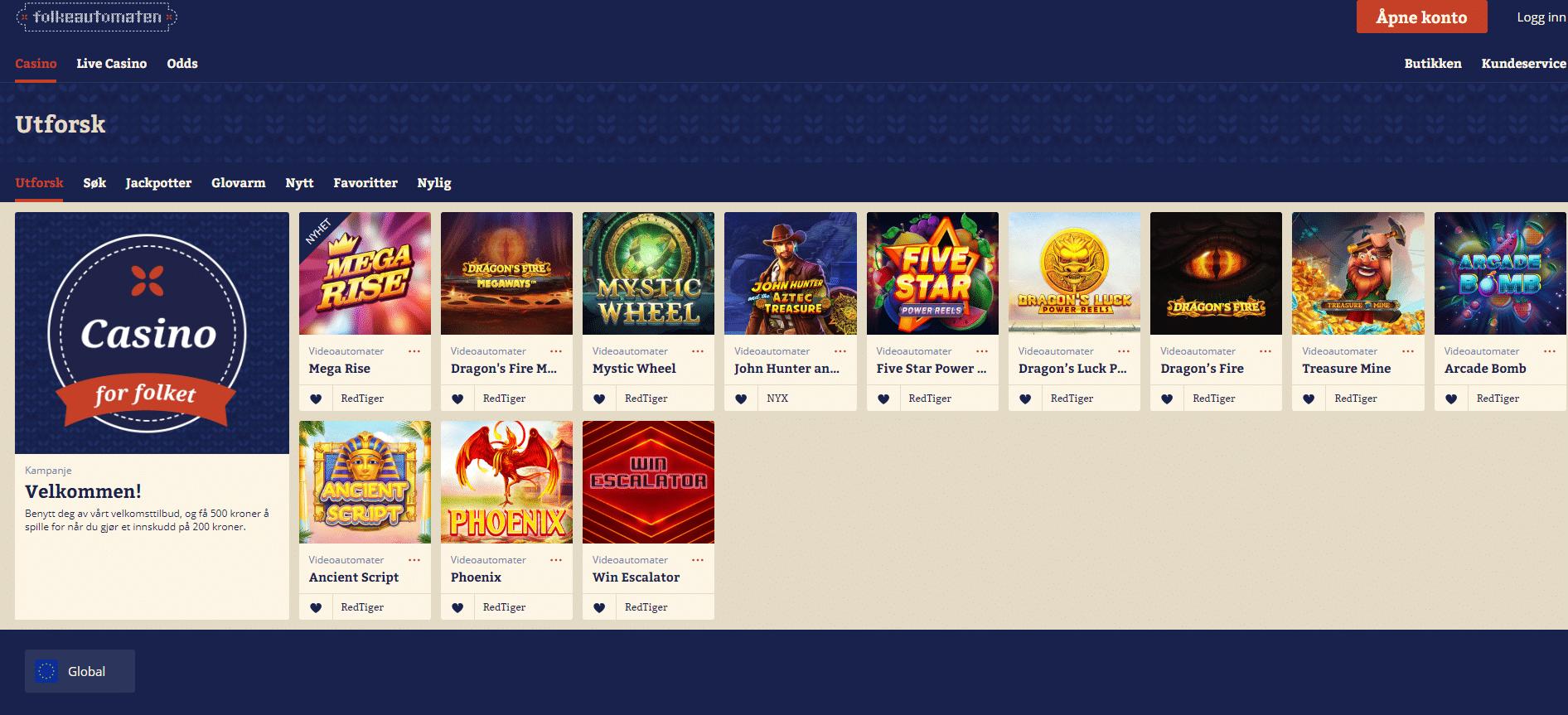 Lista casino bonusar holdem