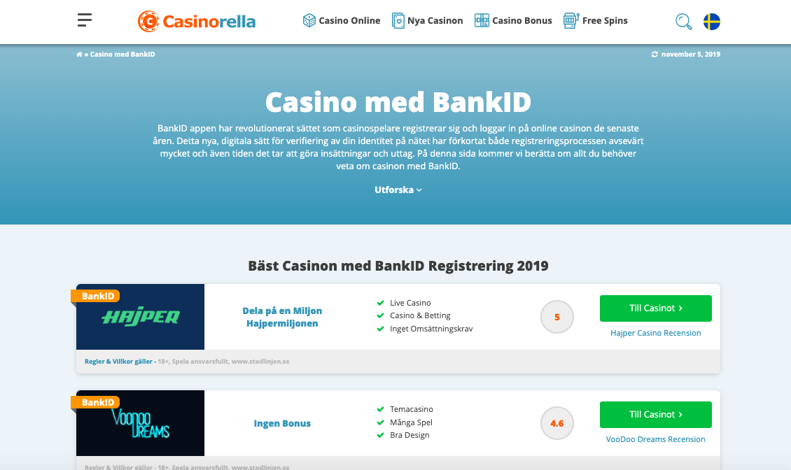 Swedish casino with 3D 32880