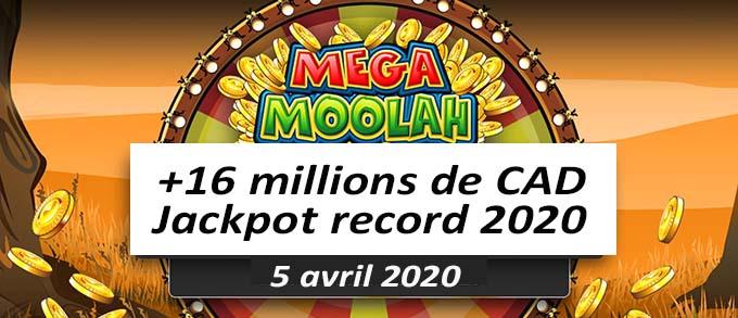 Mega moolah jackpot thrills