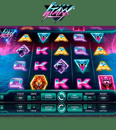 Spelautomat cash Neon Staxx hemma